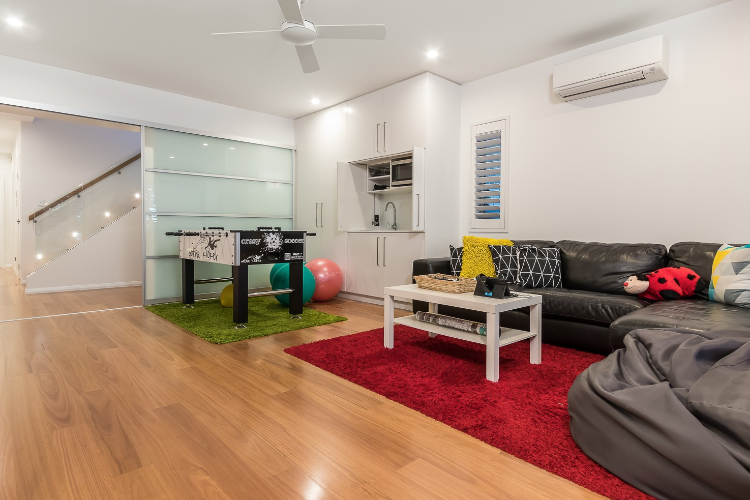 Brisbane Manly contemporary home by evermore gmaes room area