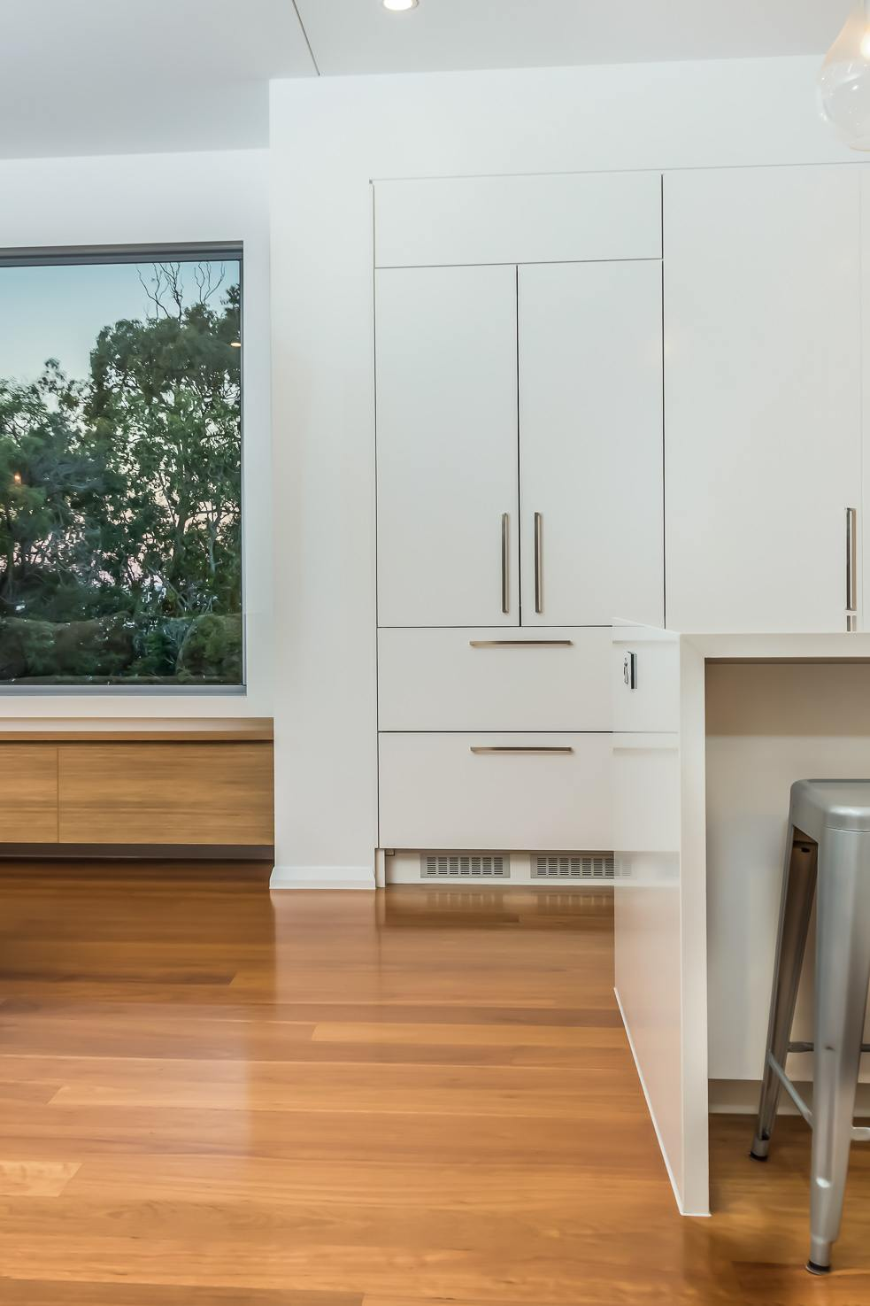 Brisbane Manly contemporary home by evermore side angle of the kitchen
