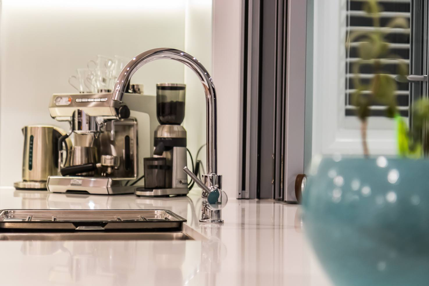 Brisbane Manly contemporary home by evermore close up of kitchen