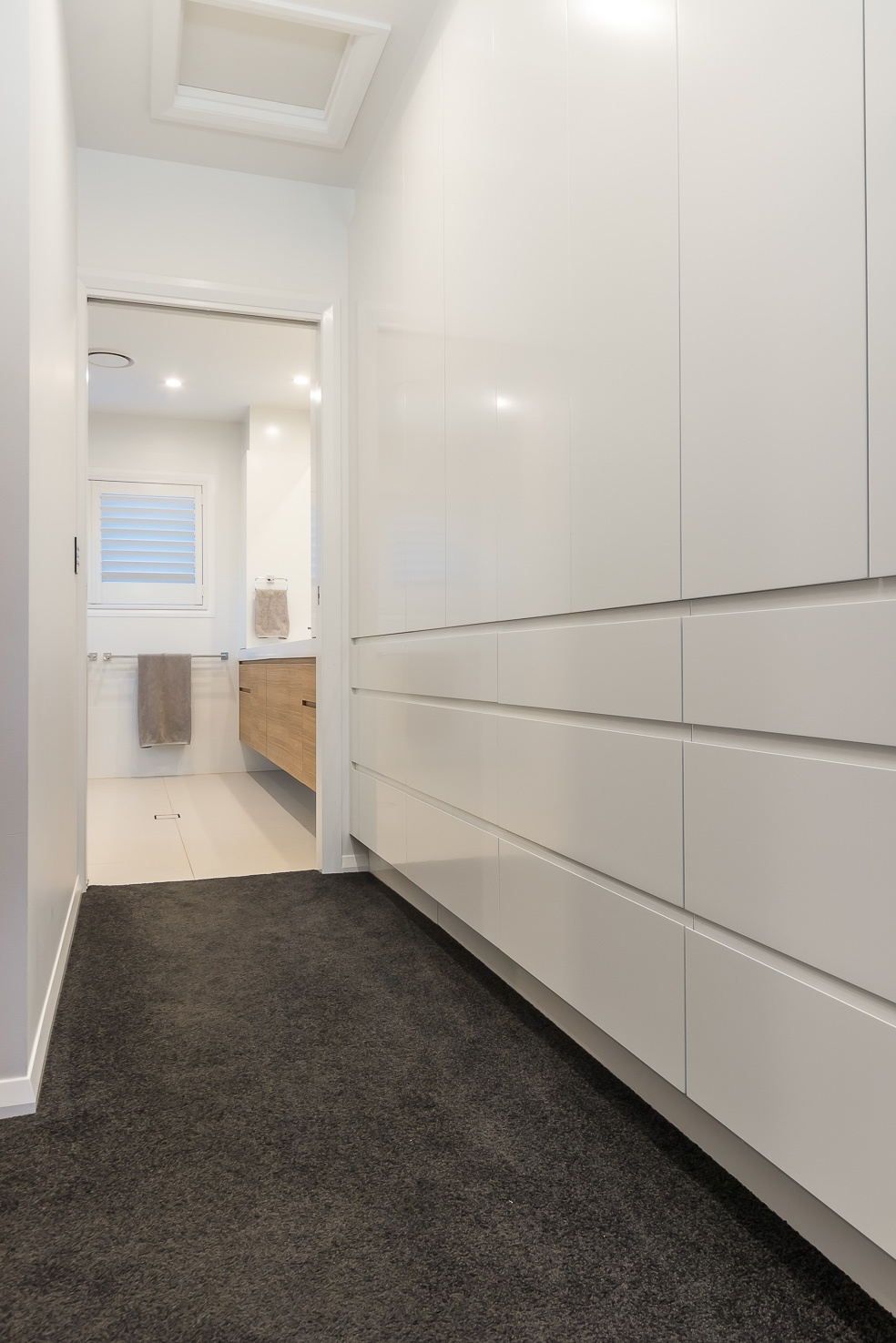 Brisbane Manly contemporary home by evermore looking into the master ensuite